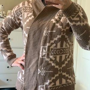 Aztec design woven cardigan